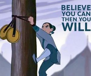 mulan, disney, and believe image