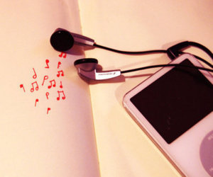 music, ipod, and pink image