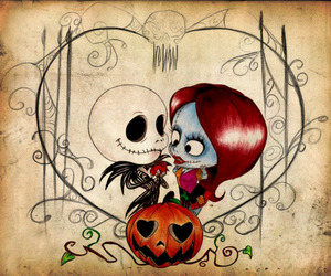 Halloween, nightmare before christmas, and jack and sally image