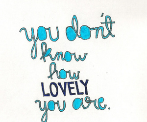 blue, lovely, and quote image