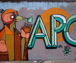 apc, bogota, and streetart image
