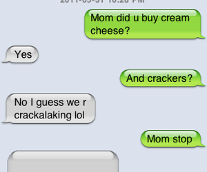 cheese, iphone, and mom image
