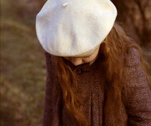 beret, girl, and red hair image