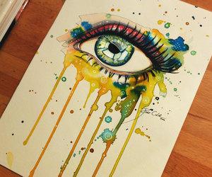 eye, art, and eyes image
