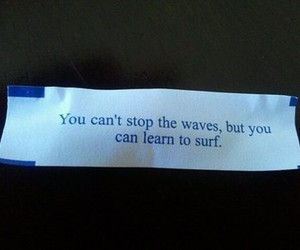 quote, surf, and waves image