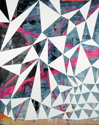 graphic, pattern, and triangles image