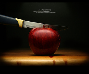 apple, attack, and black image