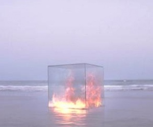 beach, cube, and fire image