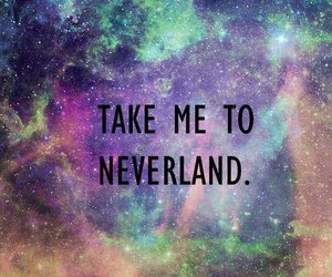neverland, galaxy, and quotes image