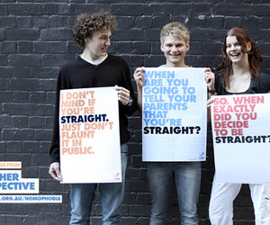 gay and straight image