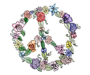 floral, flowers, and peace image