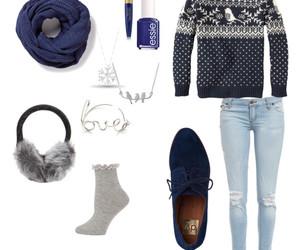 beauty, blue, and christmas image