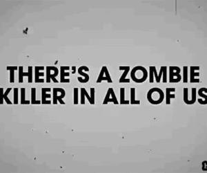 zombie, killer, and text image