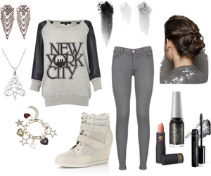 casual, fashion, and grey image