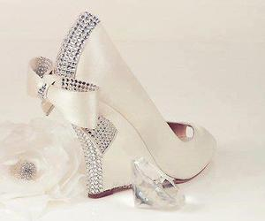 bow, cream, and highheels image