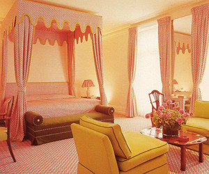 bedroom, pink, and rooms image