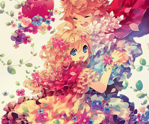 anime, flowers, and manga image