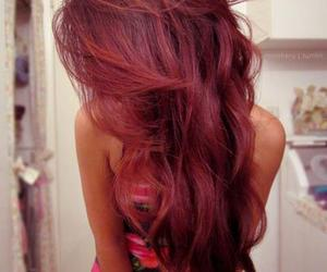 beautiful, hair style, and red hair image
