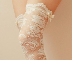 lace, fashion, and white image