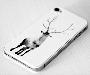 iphone, deer, and white image