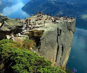 norway, preachers rock, and awesome image