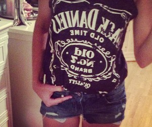 body, jack daniels, and jeans image