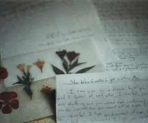 flowers, vintage, and Letter image