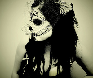 day of the dead, make up, and makeup image