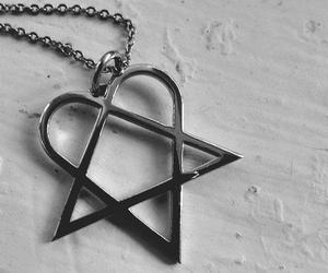 him, heartagram, and accessory image