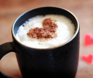 heart, coffee, and drink image