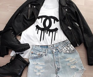 black, jacket, and cute image