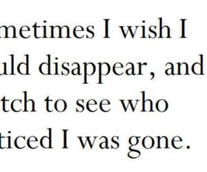quote, disappear, and gone image