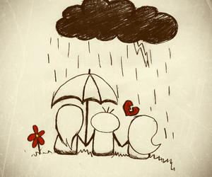 broken heart and rain image