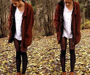 fashion, clothes, and autumn image