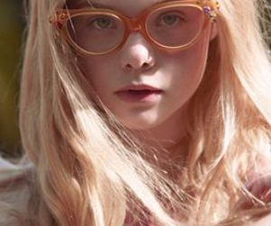 Elle Fanning, glasses, and hair image