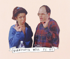 seinfeld, george costanza, and elaine benes image