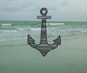 anchor, sea, and beach image