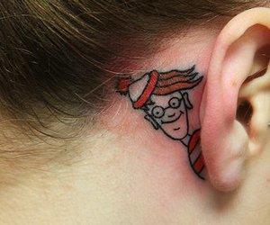 tattoo, wally, and ear image