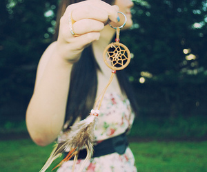 girl and dreamcatcher image