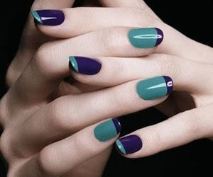 nails, blue, and green image