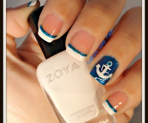 nails, blue, and anchor image