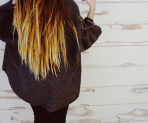 hair, ombre, and coffee image