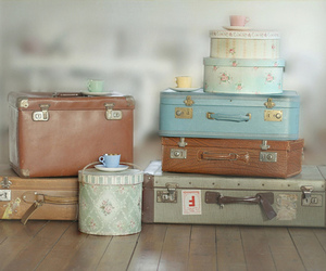 suitcase, vintage, and photography image