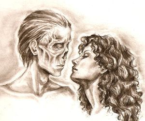 almost kiss, face, and Phantom of the Opera image