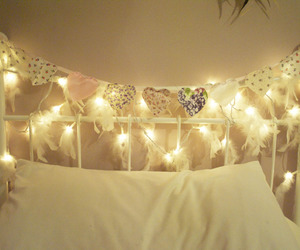 light, bed, and pretty image