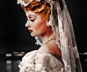 vintage, bride, and Lucille Ball image