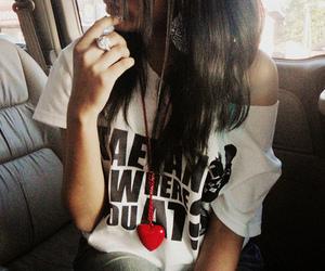 girl, heart, and hair image