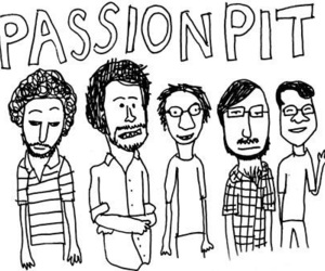 comic, illustration, and passion pit image