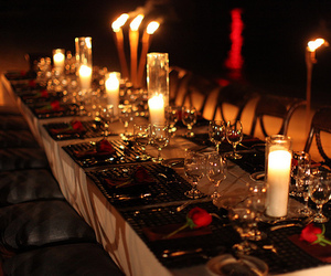 candle, luxury, and dinner image