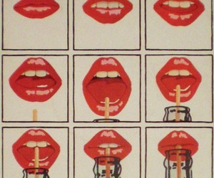 lips, coke, and red image